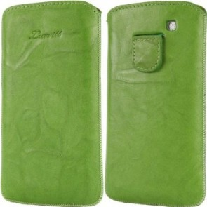 LUVVITT Genuine Leather Pouch for Samsung Galaxy S3 SIII - Green