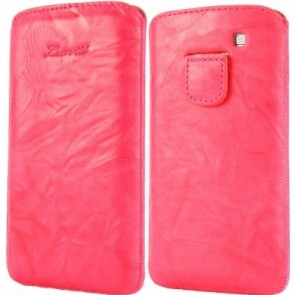 LUVVITT Genuine Leather Pouch for Samsung Galaxy S3 SIII - Pink