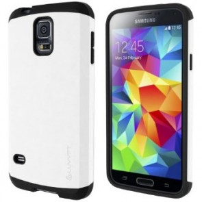 LUVVITT ULTRA ARMOR Galaxy S5 Case | Double Layer Shock Absorbing Case - White