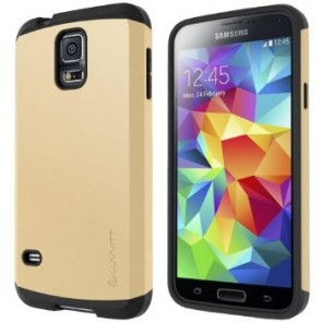 LUVVITT ULTRA ARMOR Galaxy S5 Case | Double Layer Shock Absorbing Case - Gold
