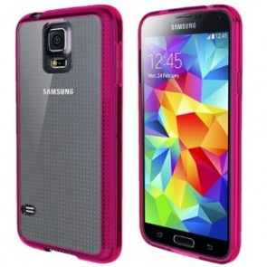 LUVVITT CLEARVIEW Case for Samsung Galaxy S5 | Bumper with Back Cover - Pink