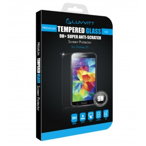 LUVVITT Galaxy S5 TEMPERED GLASS Screen Protector for Galaxy S5 -Crystal Clear