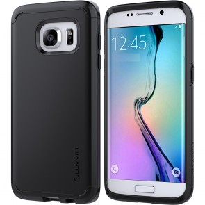 LUVVITT ULTRA ARMOR Dual Layer Galaxy S7 Edge Case - Black