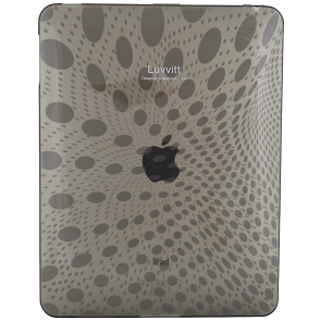 LUVVITT Candy Case - Limited Edition Clear TPU Case for Apple iPad 1 Black