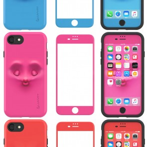 LUVVITT EMOJI Case and Tempered Glass Set  for iPhone 7 Plus - Bundle