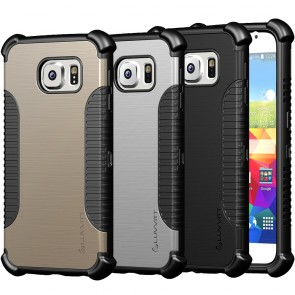 LUVVITT ULTRA ARMOR Galaxy S6 Case - Black / Gold / Silver