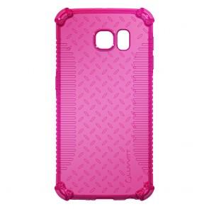 LUVVITT CLEAR GRIP Galaxy S6 Case   Slim Transparent TPU Rubber Case - Pink
