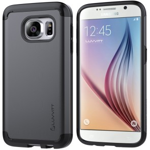 LUVVITT ULTRA ARMOR Dual Layer Galaxy S7 Case - Black / Gunmetal