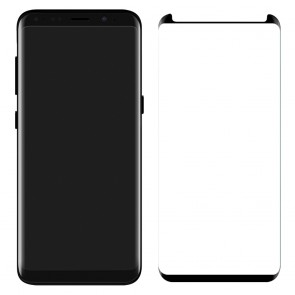 LUVVITT TEMPERED GLASS Screen Protector ( Case Friendly ) for Galaxy S8 - Black