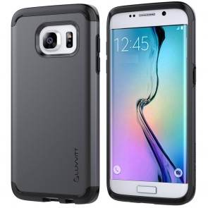LUVVITT ULTRA ARMOR Dual Layer Galaxy S7 Edge Case - Black / Gunmetal