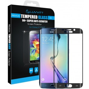 LUVVITT TEMPERED GLASS Screen Protector for Samsung Galaxy S7 Edge - Black Onyx