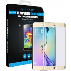 LUVVITT TEMPERED GLASS Screen Protector for Samsung Galaxy S7 Edge - Gold