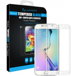 LUVVITT TEMPERED GLASS Screen Protector for Samsung Galaxy S7 Edge - Silver