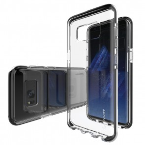 LUVVITT PROOFTECH Case for Galaxy S8 Plus - Clear / Black