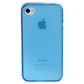 LUVVITT ICE Thermoplastic Soft Case for iPhone 4 & 4S - Transparent Blue