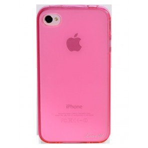 LUVVITT ICE Thermoplastic Soft Case for iPhone 4 & 4S - Transparent Pink