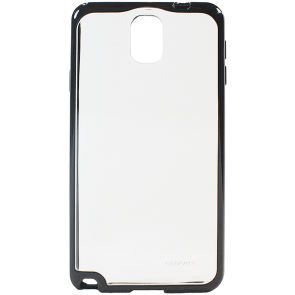 LUVVITT CLEARVIEW  Slim Clear Back Case with Bumper for Galaxy Note 3 - Clear / Black