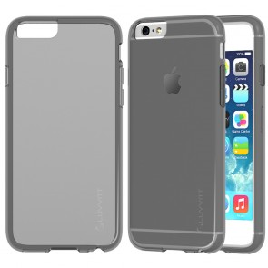 LUVVITT FROST iPhone 6 / 6s Case | Flexible TPU Rubber Back Cover - Transparent Black