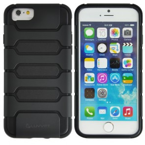 LUVVITT ARMOR SHELL iPhone 6 Case / Dual Layer Back Cover for iPhone 6 - Black