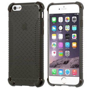 LUVVITT CLEAR GRIP iPhone 6S / 6 Case Soft TPU Rubber Back Cover - Black