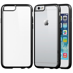 LUVVITT CLEARVIEW Case for iPhone 6S / 6 | Hybrid Back Cover - Clear / Black
