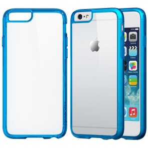 LUVVITT CLEARVIEW Case for iPhone 6S / 6 | Hybrid Back Cover - Transparent Blue