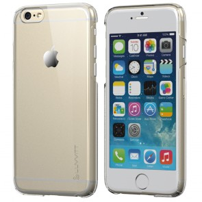 LUVVITT CRISTAL Hard Shell Transparent Clear Back Case for iPhone 6 - Clear