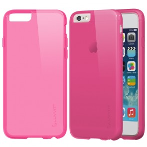 LUVVITT FROST iPhone 6 / 6s Case | Flexible TPU Rubber Back Cover - Transparent Pink