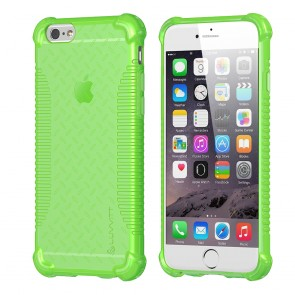 LUVVITT CLEAR GRIP iPhone 6S / 6 Case Soft TPU Rubber Back Cover - NEON Green