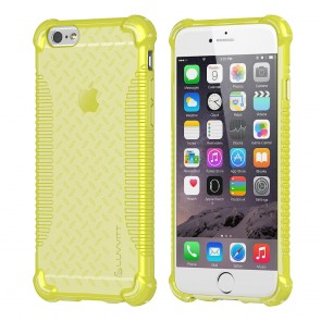 LUVVITT CLEAR GRIP iPhone 6S / 6 Case Soft TPU Rubber Back Cover - NEON Yellow