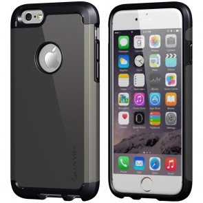 LUVVITT ULTRA ARMOR iPhone 6 / 6S Case | Dual Layer Back Cover - Black/Gunmetal