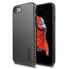 LUVVITT BRILLIANT ARMOR Case for iPhone 7 | Dual Layer Back Cover - Jet Black