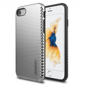 LUVVITT BRILLIANT ARMOR Case for iPhone 7 | Dual Layer Back Cover - Silver