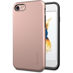 LUVVITT SUPER ARMOR Case for iPhone 7 | Dual Layer Back Cover - Rose Gold