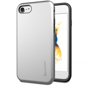 LUVVITT SUPER ARMOR Case for iPhone 7 | Dual Layer Back Cover - Silver