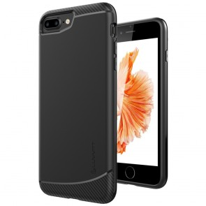 LUVVITT SLEEK ARMOR Case for iPhone 7 PLUS | Dual Layer Back Cover - Black