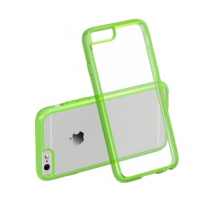 LUVVITT CLEARVIEW Case for iPhone 6S / 6 | Hybrid Back Cover - Neon Green