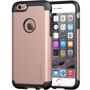 LUVVITT ULTRA ARMOR iPhone 6 / 6S Case | Dual Layer Back Cover - Rose Gold