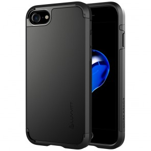 LUVVITT ULTRA ARMOR Case for iPhone 7 | Dual Layer Back Cover - Black