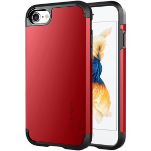 LUVVITT ULTRA ARMOR Case for iPhone 7 | Dual Layer Back Cover - Red