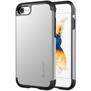 LUVVITT ULTRA ARMOR Case for iPhone 7 | Dual Layer Back Cover - Silver