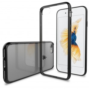 LUVVITT CLEARVIEW Case for iPhone 7 | Hybrid Back Cover - Black