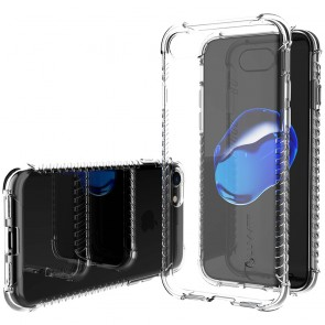 LUVVITT CLEAR GRIP Case for iPhone 7 | Soft TPU Rubber Back Cover - Clear