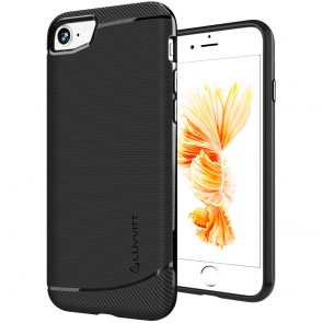 LUVVITT SLEEK ARMOR Case Shock Absorbing Flexible TPU Cover for iPhone 7 - Black