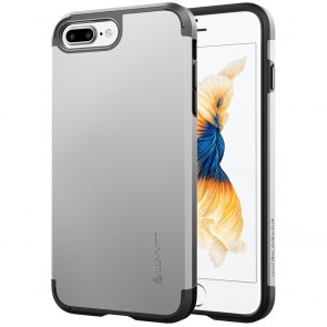 LUVVITT ULTRA ARMOR Case for iPhone 7 PLUS | Dual Layer Back Cover - Silver