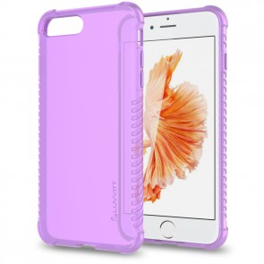 LUVVITT CLEAR GRIP Case for iPhone 7 PLUS | Soft TPU Rubber Back Cover - Violet