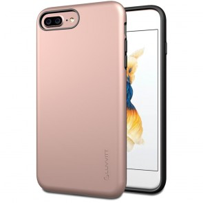 LUVVITT SUPER ARMOR Case for iPhone 7 PLUS | Dual Layer Back Cover - Rose Gold