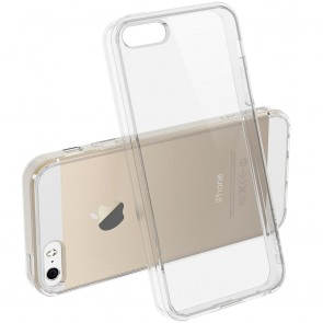 LUVVITT CLEARVIEW Case for iPhone SE   Hybrid Back Cover - Crystal Clear