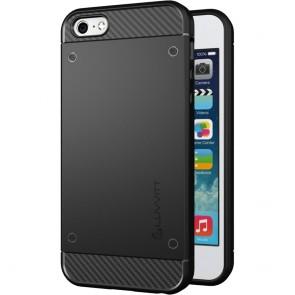 LUVVITT SLEEK ARMOR iPhone SE Case   Dual Layer Back Cover - Black