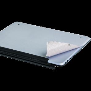 LUVVITT SILVERBACK (TM) Protective Back Skin for iPad Air Logitech Ultrathin Keyboard Cover (920-005519) -Silver